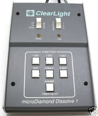 Clearlight Micro Diamond Dissolve Unit - KX Camera Kodak Slide projectors since 1980 1732-1/2 Grand Ave. Santa Barbara, CA 93103 805-963-5625