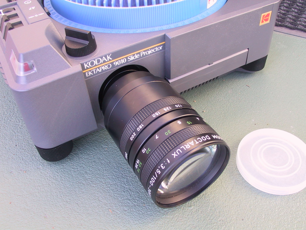 Doctar Doctalux 100-300mm 100-300mm Zoom Lens - KX Camera Kodak Slide Projectors Since 1980 - 1732-1/2 Grand Ave. Santa Barbara, CA 93103 805-963-5625