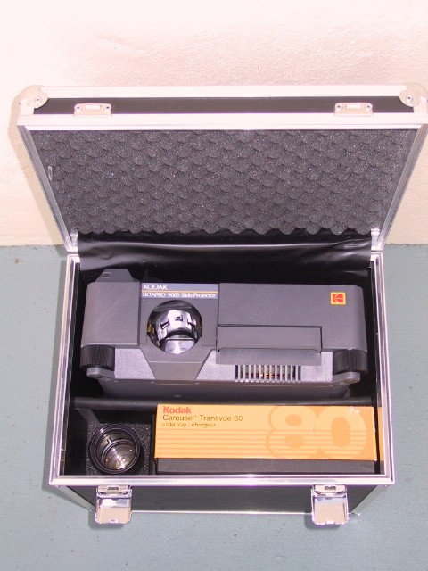 Kodak EktaPro Projector Hard Fiber Case - KX Camera Kodak Slide Projectors Since 1980 - 1732-1/2 Grand Ave. Santa Barbara, CA 93103 805-963-5625