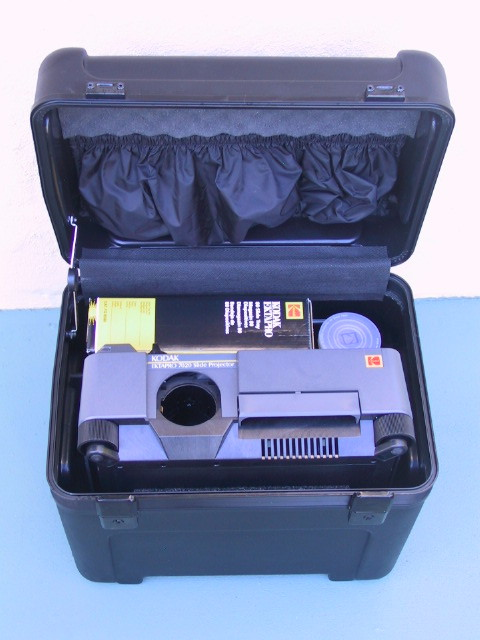 Kodak EktaPro Projector Hard Plastic Case - KX Camera Kodak Slide Projectors Since 1980 - 1732-1/2 Grand Ave. Santa Barbara, CA 93103 805-963-5625