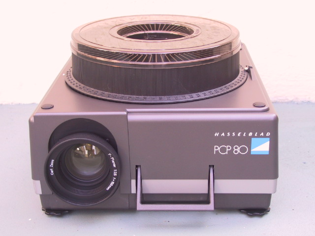 Hasselblad PCP-80 PCP 80 PCP80 Slide Projector - KX Camera Kodak Slide Projectors Since 1980 - 1732-1/2 Grand Ave. Santa Barbara, CA 93103 805-963-5625