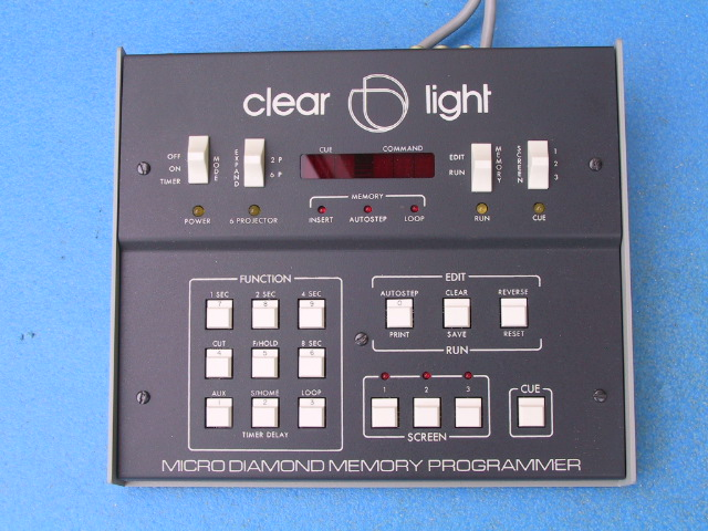 Clearlight Micro Diamond Memory Programmer Dissolve Unit - KX Camera Kodak Slide projectors since 1980 1732-1/2 Grand Ave. Santa Barbara, CA 93103 805-963-5625