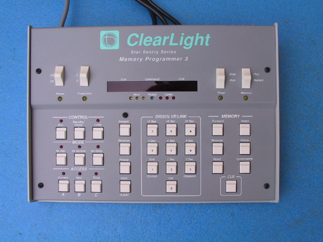 Clearlight Star Sentry Series Memory Programmer Dissolve Unit - KX Camera Kodak Slide projectors since 1980 1732-1/2 Grand Ave. Santa Barbara, CA 93103 805-963-5625