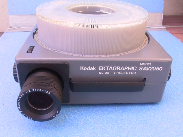 Kodak S-AV 2050 Projector - KX Camera Kodak Slide Projectors Since 1980 - 1732-1/2 Grand Ave. Santa Barbara, CA 93103 805-963-5625