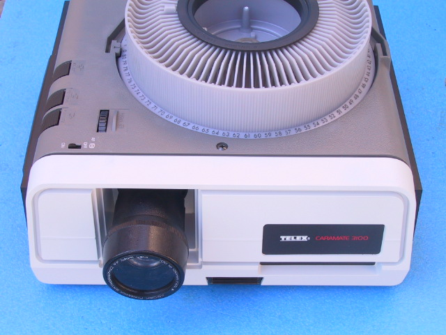 Telex 3170 Caramate Slide Projector - KX Camera Kodak Slide Projectors Since 1980 - 1732-1/2 Grand Ave. Santa Barbara, CA 93103 805-963-5625